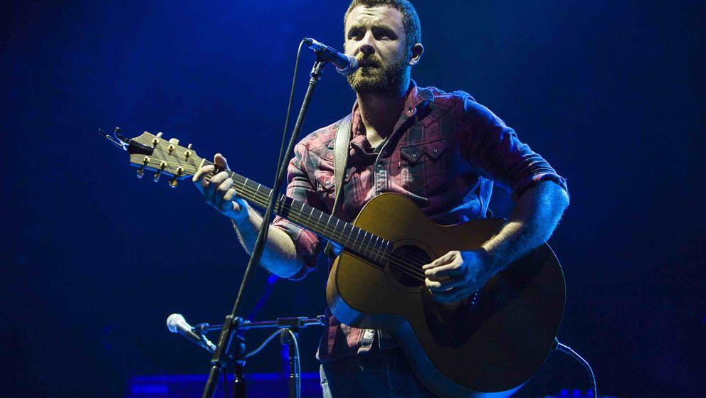 LONDON, ENGLAND - OCTOBER 02:  Mick Flannery performs on stage at Hammersmith Apollo on October 2, 2012 in London, United Kin