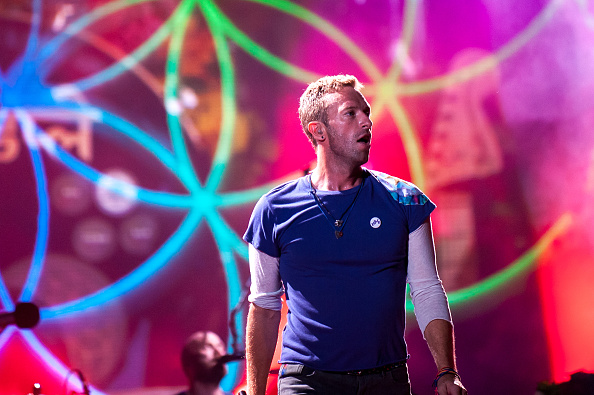 BRISBANE, AUSTRALIA - DECEMBER 06: Coldplay perform at Suncorp Stadium on December 6, 2016 in Brisbane, Australia.  (Photo by