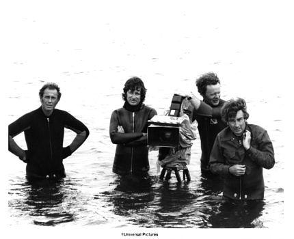 Martha's Vineyard, MA - 1975: Director Steven Spielberg and camera crew on the set of the Universal Pictures production of 'Jaws' in 1975 in Martha's Vineyard, Massachusetts. (Photo by Michael Ochs Archives/Getty Images)