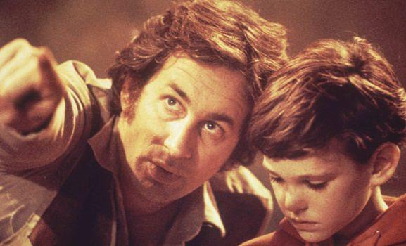1982: Steven Spielberg mit Henry Thomas –E.T. kommt