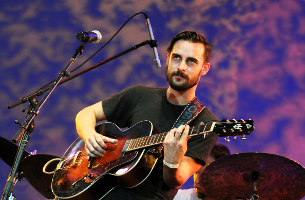 NEW YORK, NY - AUGUST 06: Singer/guitarist Robert Ellis performs during Americanafest NYC 2014 at Lincoln Center for the Perf