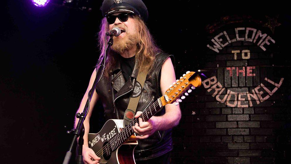 LEEDS, UNITED KINGDOM - FEBRUARY 06: Julian Cope performs on stage at Brudenell Social Club on February 6, 2015 in Leeds, Uni