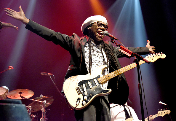 OAKLAND, CA - FEBRUARY 20:  Nile Rodgers of Chic featuring Nile Rodgers performs at the Fox Theater on February 20, 2016 in O