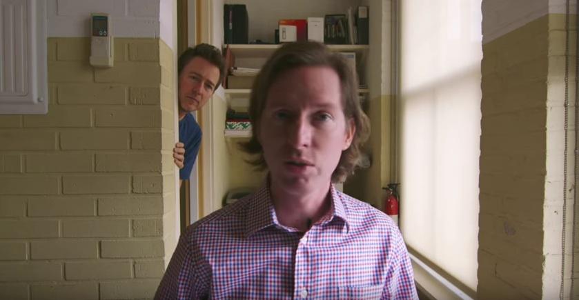 """Wes Anderson und Edward Norton präsentieren den Cast für """"Isle Of Dogs"""""""