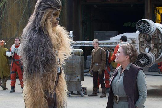 """Mit Chewie in """"Das Erwachen der Macht"""", 2015"""