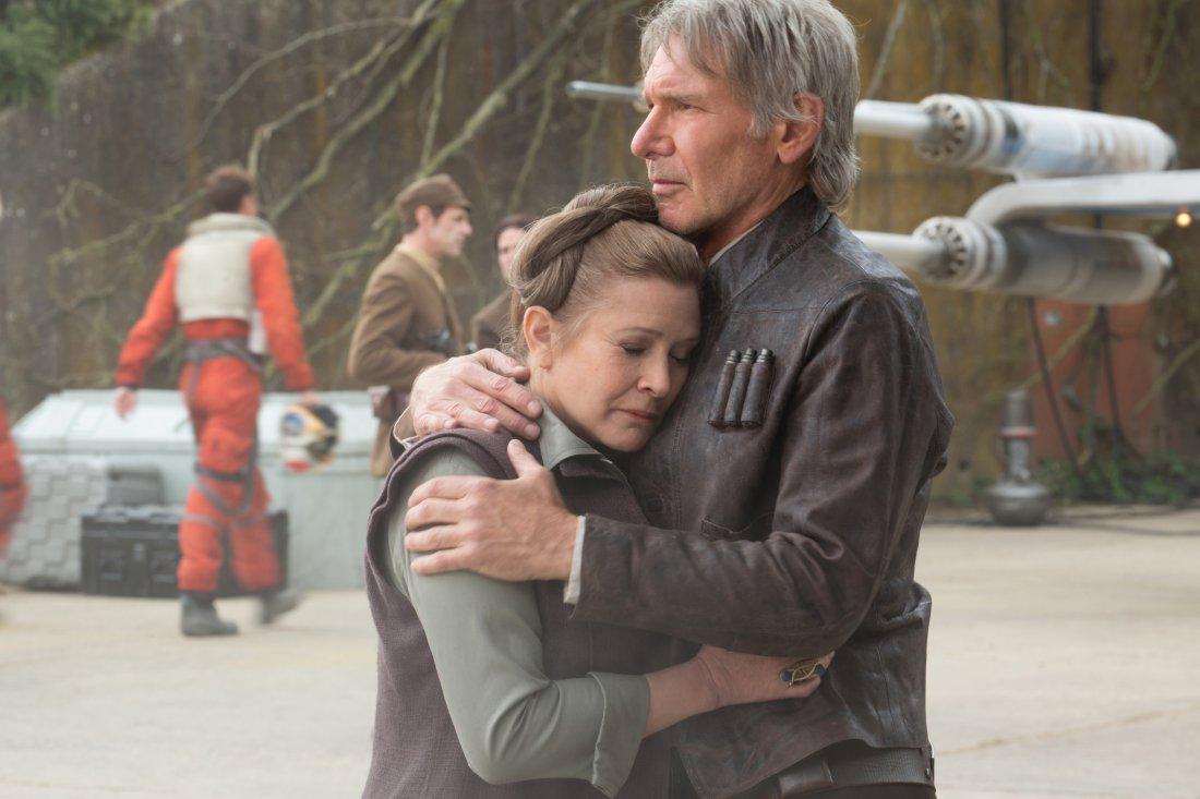 """Harrison Ford und Carrie Fisher in """"Star Wars: Das Erwachen der Macht"""""""