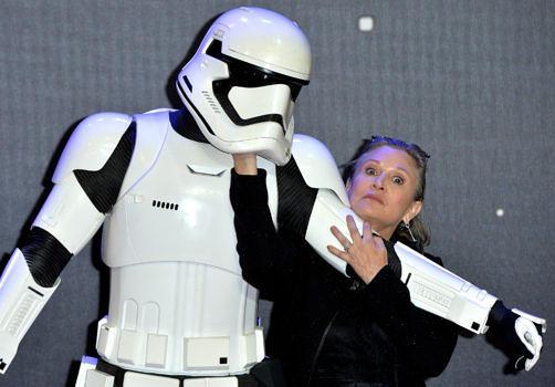 """Carrie Fisher bei der Premiere von """"Das Erwachen der Macht"""""""