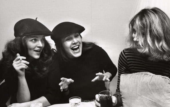 Amy Irving, Carrie Fisher and Teri Garr during Thanksgiving Party at Sibils - November 21, 1977 at Sibils in New York City, N