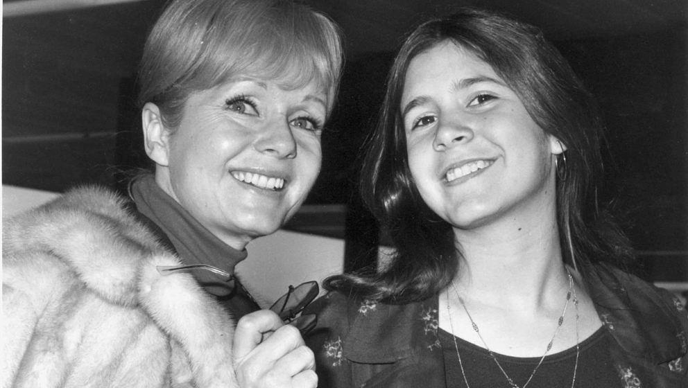 Carrie Fisher und ihre Mutter Debbie Reynolds (1972)