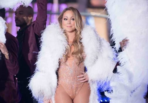 Mariah Carey auf dem Times Square