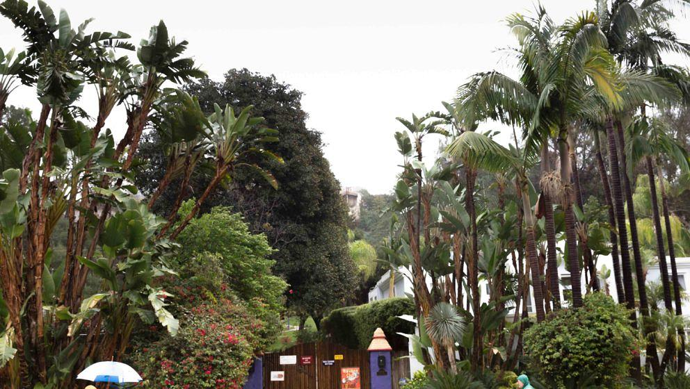 Blick auf das Gelände von Carrie Fishers letztem Wohnhaus