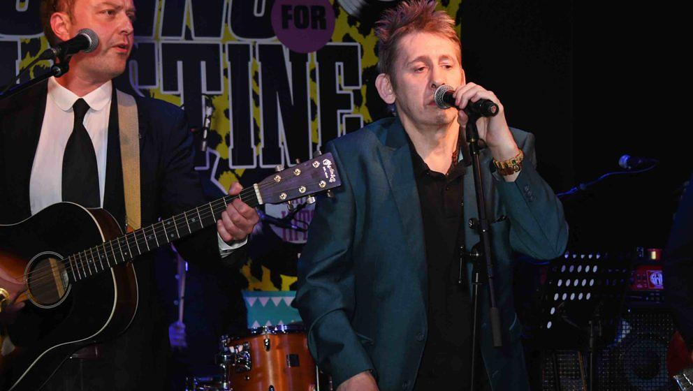 LONDON, ENGLAND - JUNE 16:  Shane MacGowan performs at 'Hoping's Greatest Hits', the 10th anniversary of The Hoping Foundatio