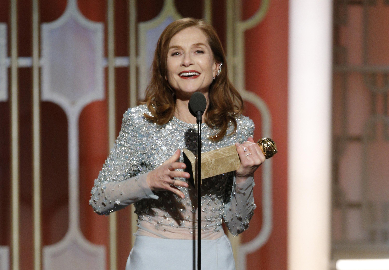 """Golden Globe Isabelle Huppert Schauspielerin """"Elle"""""""
