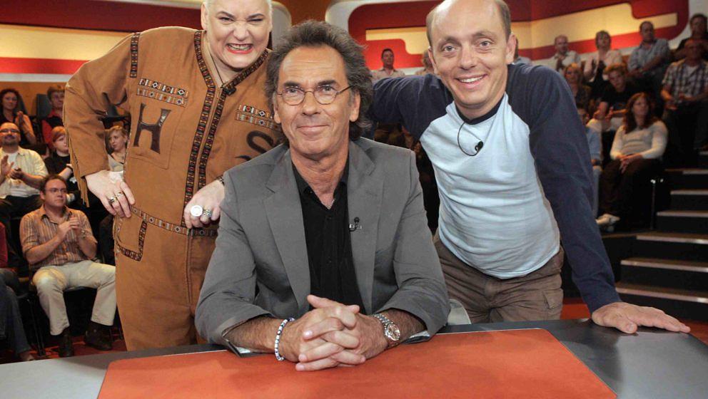 """Trio infernale bei """"Genial daneben"""": Hella von Sinnen, Hugo Egon Balder und Bernhard Hoecker"""