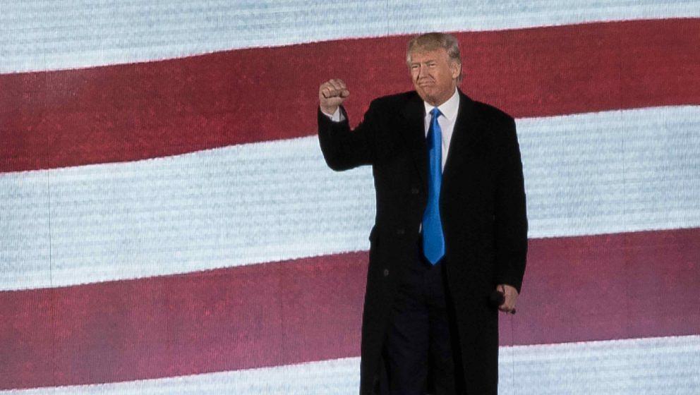 Donald Trump bei seinem Amtseinführungskonzert in Washington DC