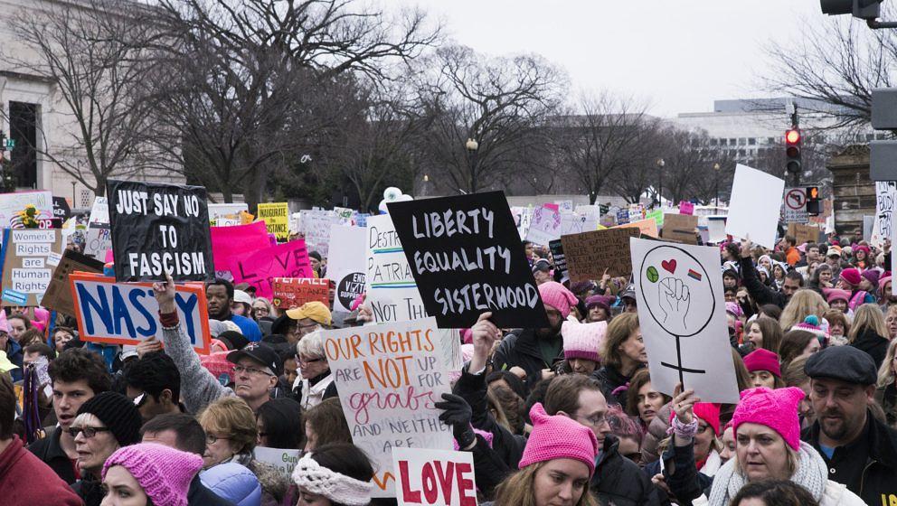 WASHINGTON, DC - JANUARY 21:  Women's March On Washington on January 21, 2017 in Washington, DC.  (Photo by Jenny Anderson/Fi