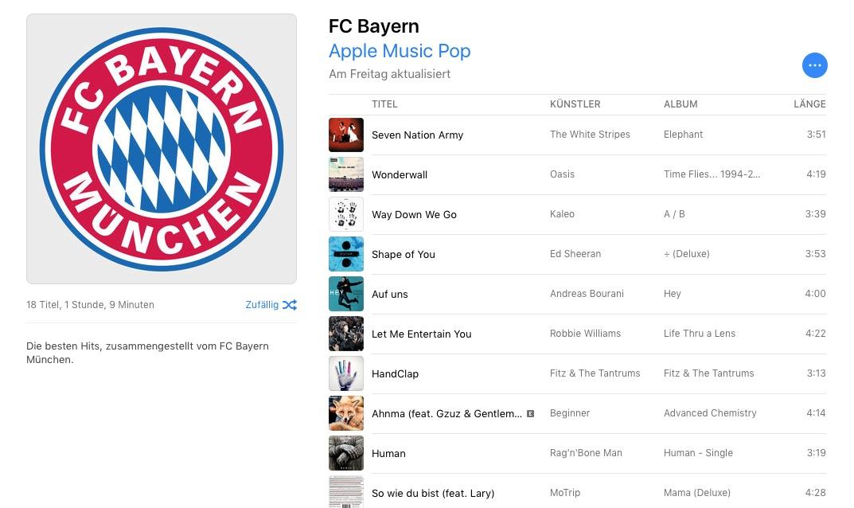"""""""Die besten Hits, zusammengestellt vom FC Bayern München"""""""