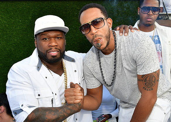 ATLANTA, Ga September 5: 50 Cent and Ludacris Attend the LudaDay Weekend all white party Finale at Compound on September 5, 2