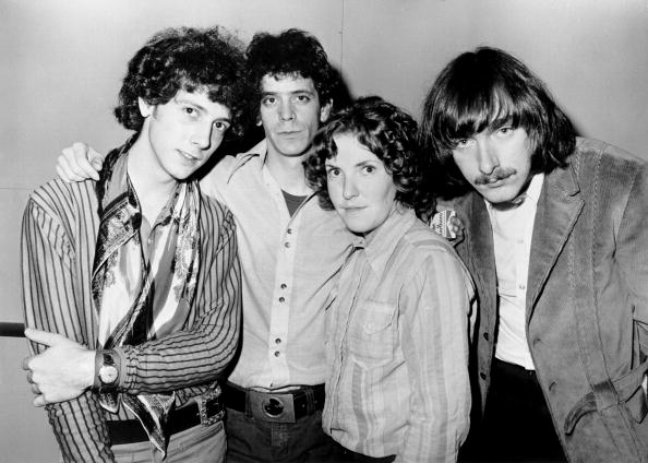 1970: (L-R) Doug Yule, Lou Reed, Maureen 'Moe' Tucker and Sterling Morrison of the rock and roll band 'Velvet Underground' po