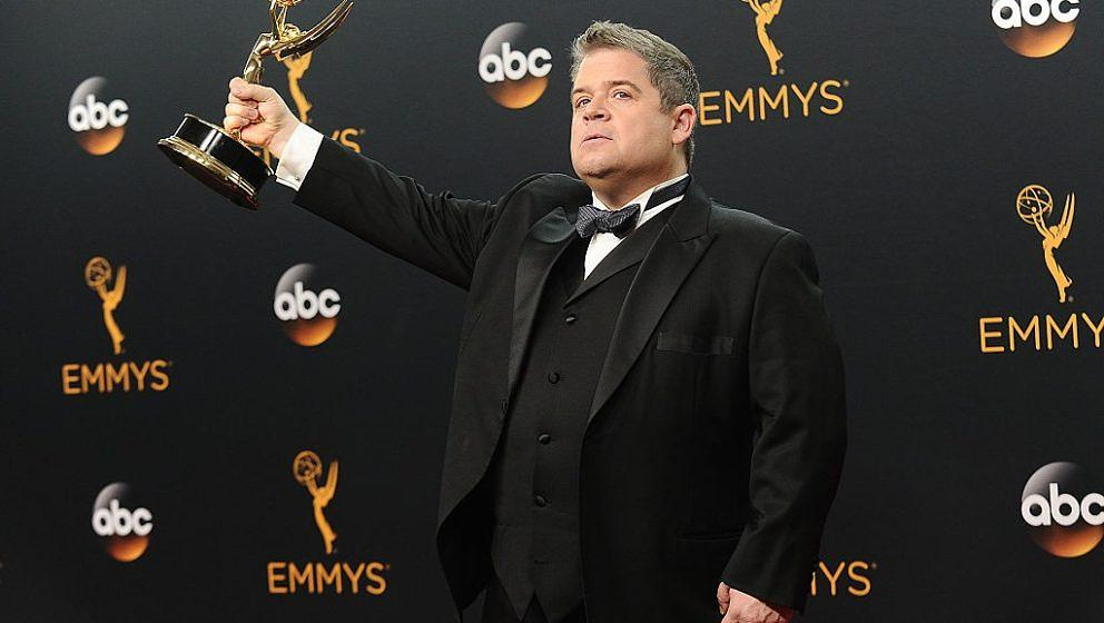 LOS ANGELES, CA - SEPTEMBER 18:  Patton Oswalt poses in the press room at the 68th annual Primetime Emmy Awards at Microsoft