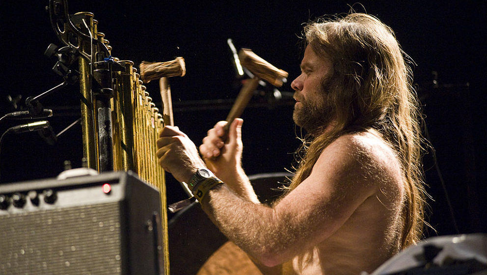 BARCELONA, SPAIN - DECEMBER 06: Thor Harris of Swans performs on Day 1 of the Primavera Club Festival at Sant Jordi Club on D