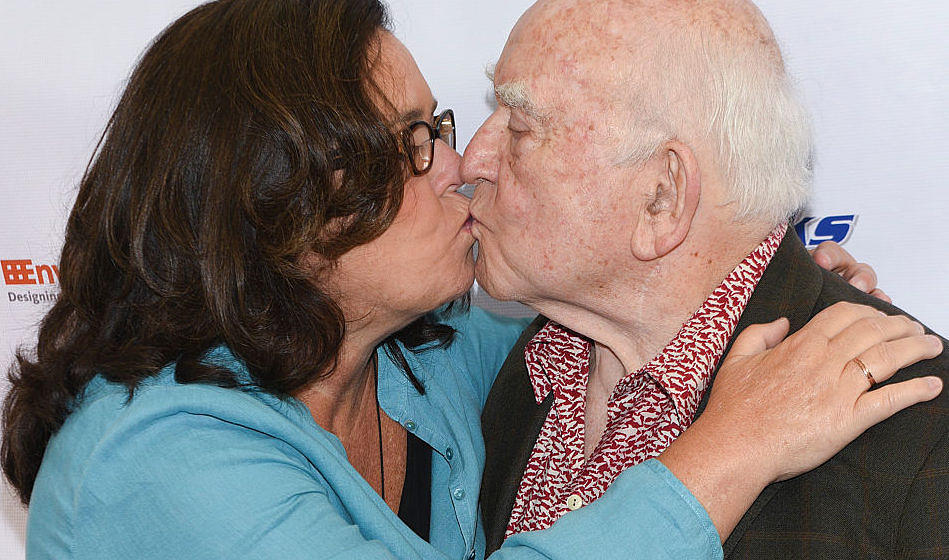 LOS ANGELES, CA - AUGUST 06:  Rosie O'Donnell (L) and actor Ed Asner at the 4th Annual Ed Asner and Friends Poker Tournament