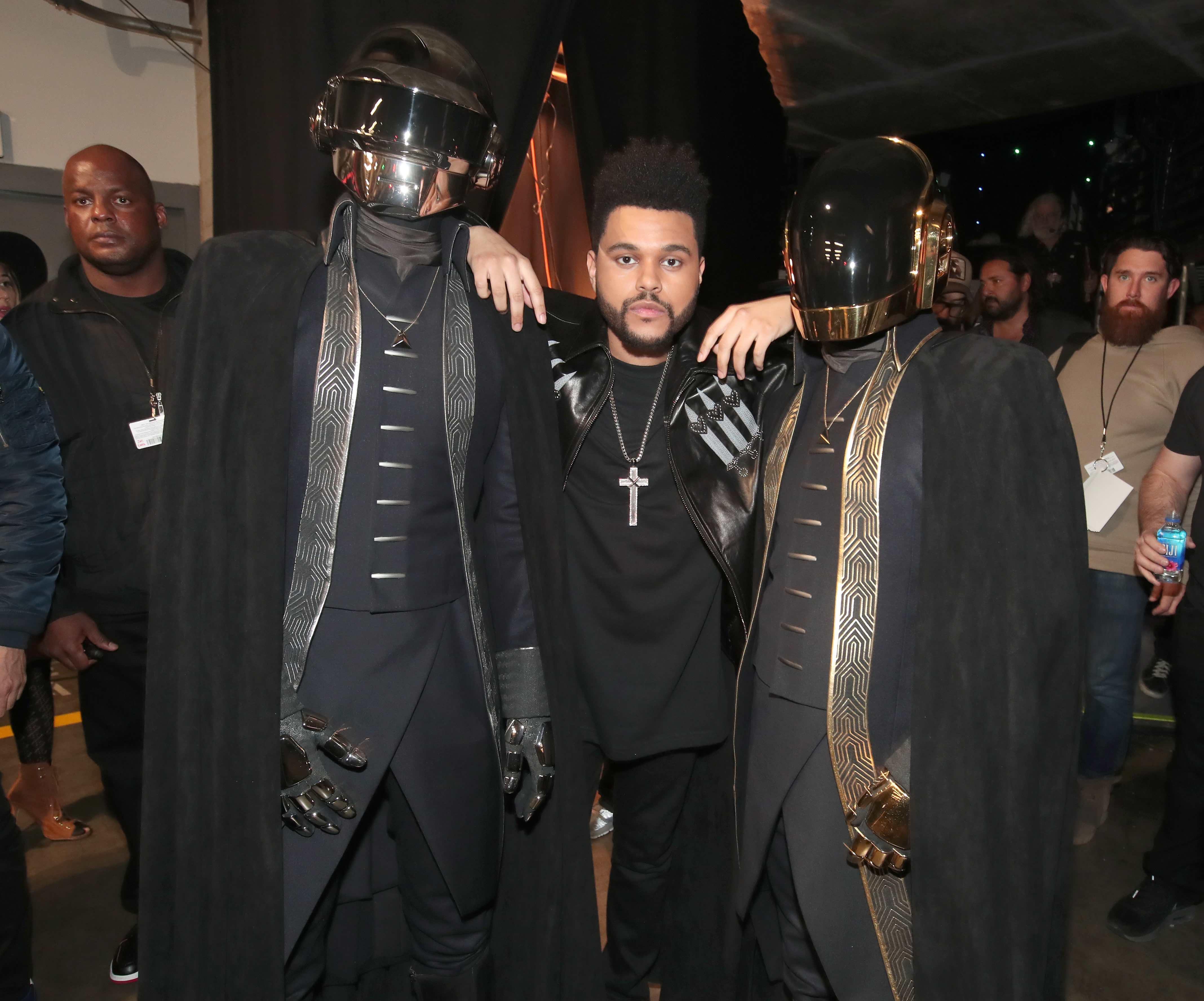 Daft Punk und The Weeknd im Anschluss an die Grammy-Verleihung