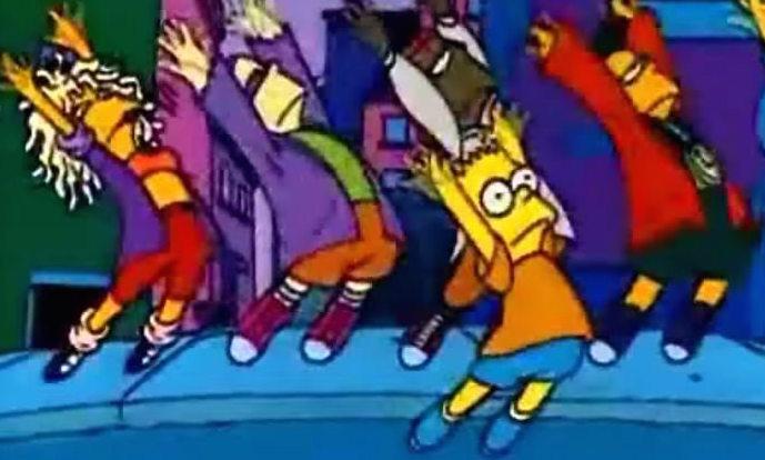 """Szene aus dem Musikvideo zu """"Do The Bartman"""""""