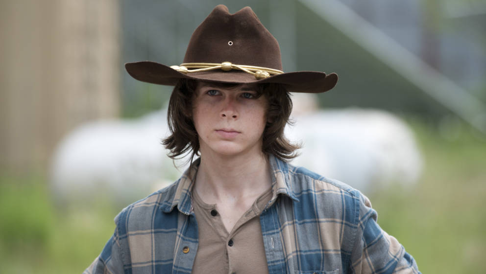 Chandler Riggs as Carl Grimes - The Walking Dead _ Season 6, Episode 7 - Photo Credit: Gene Page/AMC