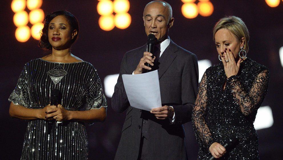 Helen 'Pepsi' DeMacque, Andrew Ridgeley und Shirlie Holliman bei den Brit Awards 2017