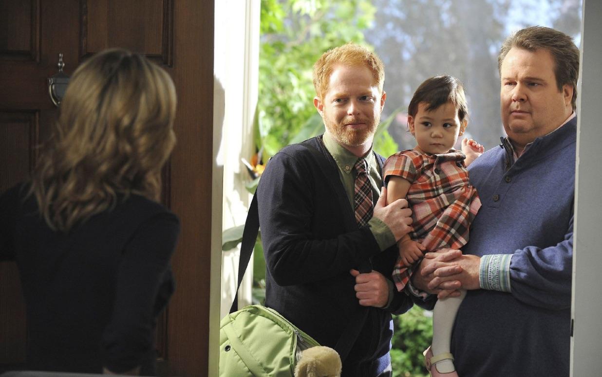Stolze Väter: Cameron und Mitchell