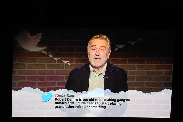 Der US-Talker Jimmy Kimmel bringt in seiner Show Prominente dazu, böse Twitter-Nachrichten vorzulesen, die sie selbst betreffen. Nun war Robert DeNiro an der Reihe.