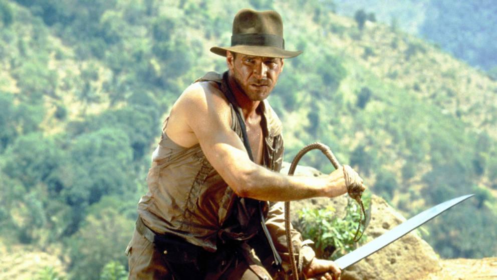 Die Peitsche hat er immer dabei: Harrison Ford ist Indiana Jones