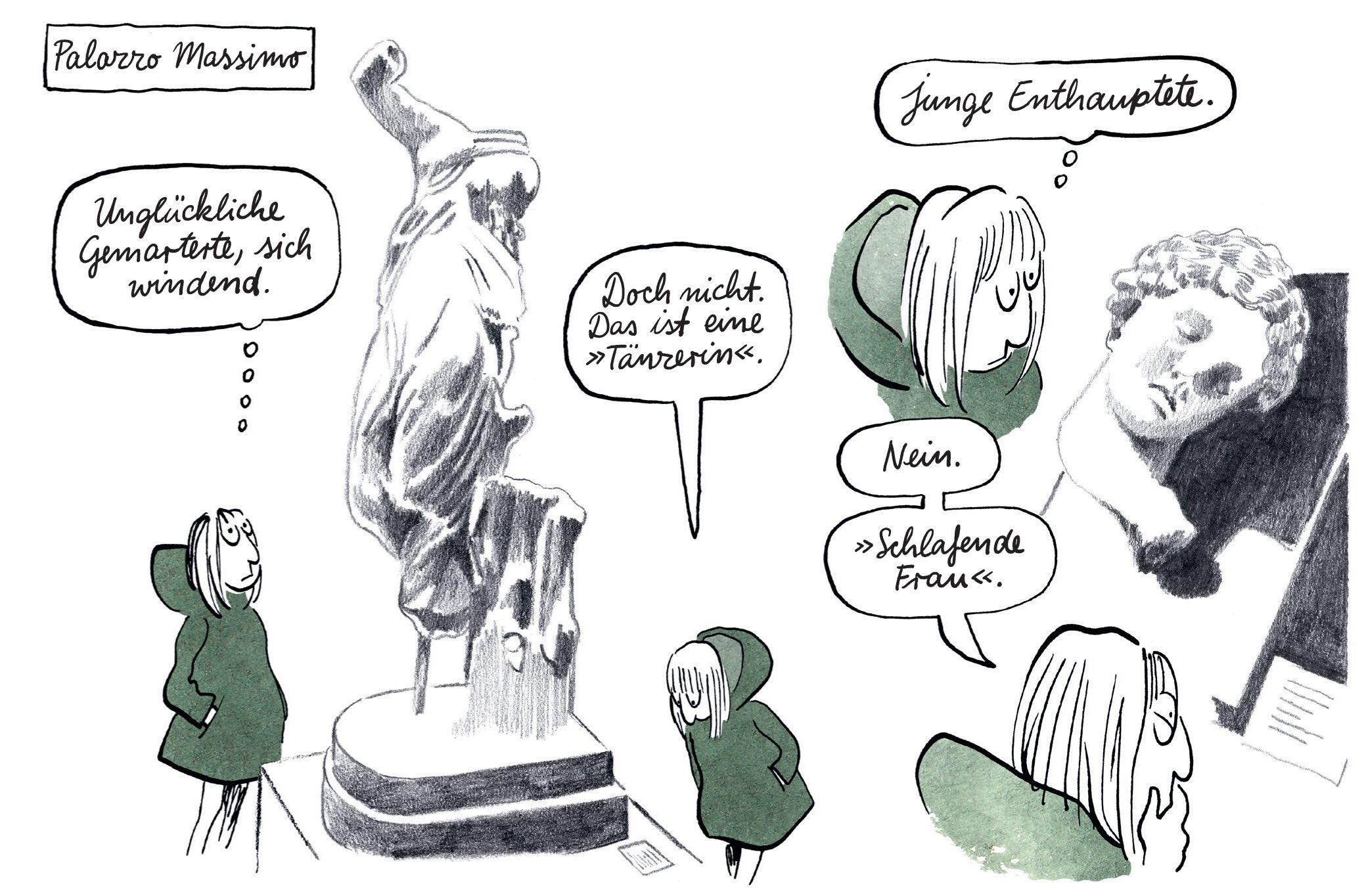 """Ausschnitt aus """"Die Leichtigkeit"""" von Catherine Meurisse"""