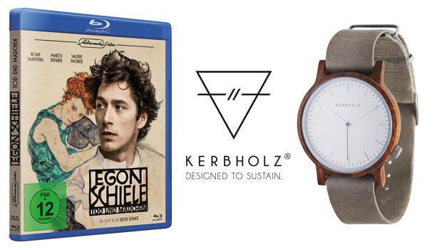 """""""Egon Schiele"""" auf Blu-ray und eine Uhr von Kerbholz"""