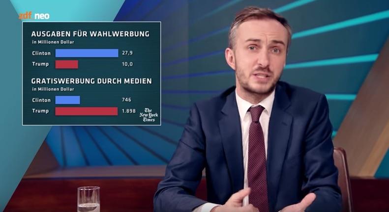 Jan Böhmermann mit den harten Fakten über Trump