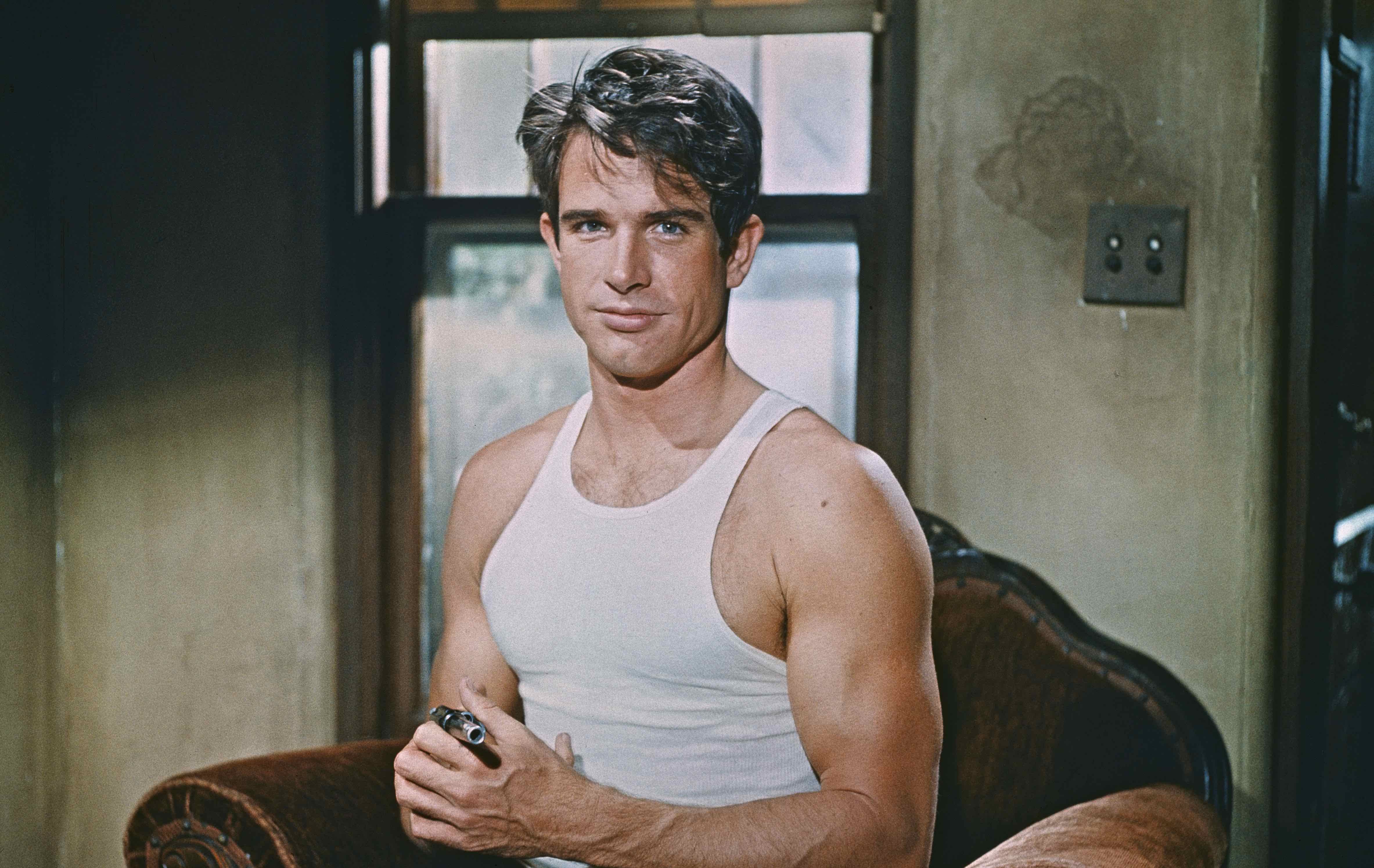 "Warren Beatty als Clyde Barrow in ""Bonnie & Clyde"""