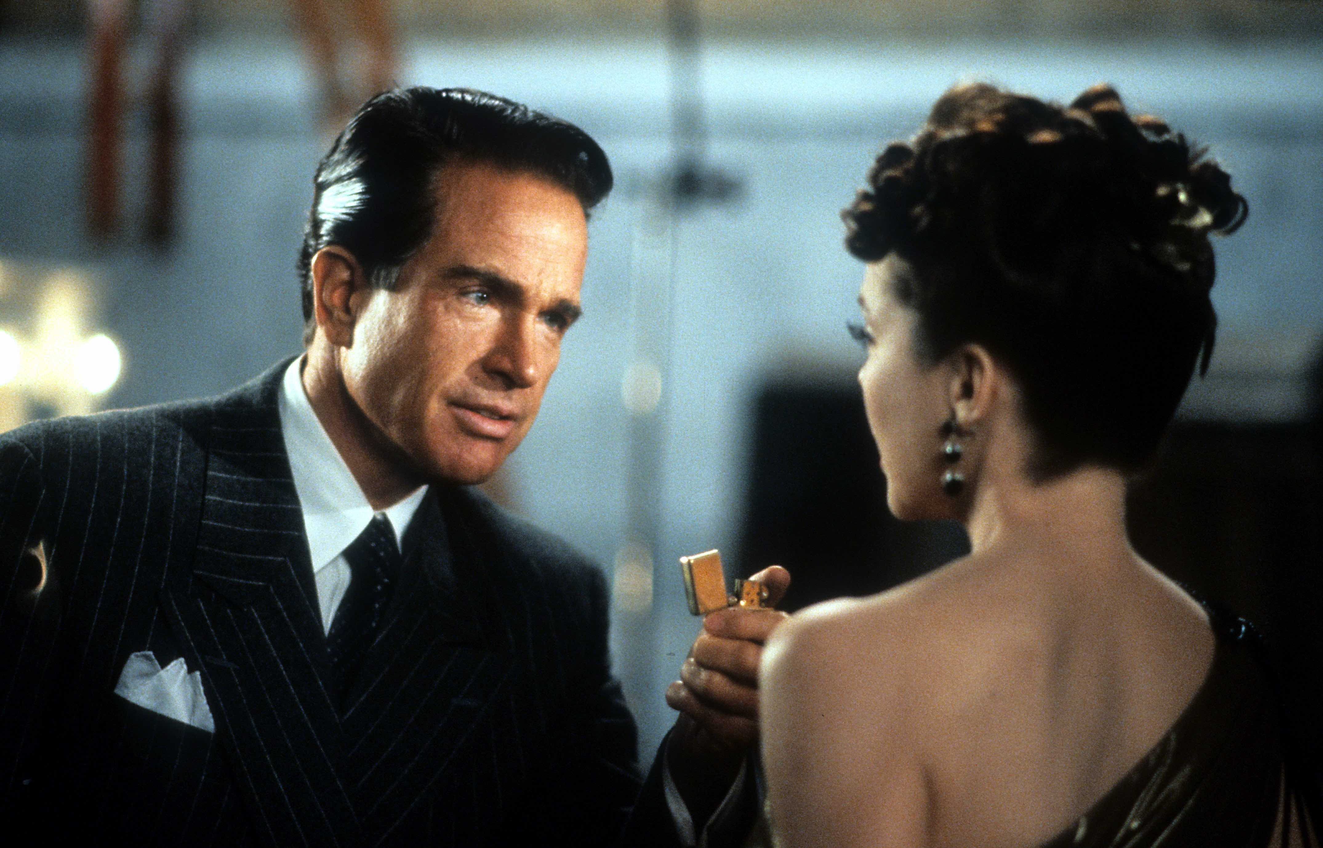 "Warren Beatty und Annette Bening in ""Bugsy"""