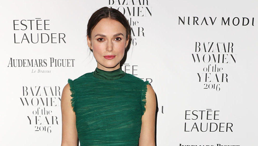 LONDON, ENGLAND - OCTOBER 31:  Keira Knightley attends the Harper's Bazaar Women of the Year Awards 2016 at Claridge's Hotel