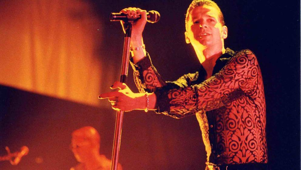 Dave Gahan of Depeche Mode during 1997 Depeche Mode Concert at Shrine Auditorium in Los Angeles, California, United States. (