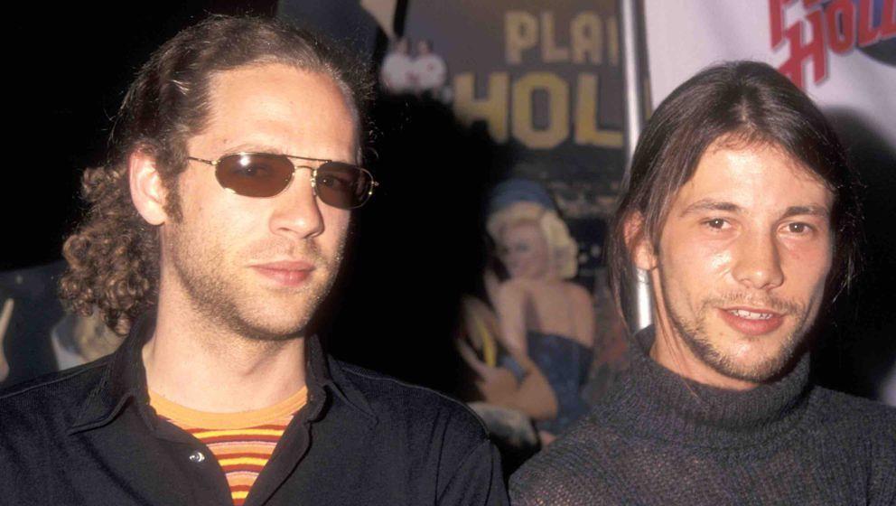 Musician Toby Smith and Musician Jason Kay of the Funk/Rock band Jamiroquai attend the press conference to announce release o