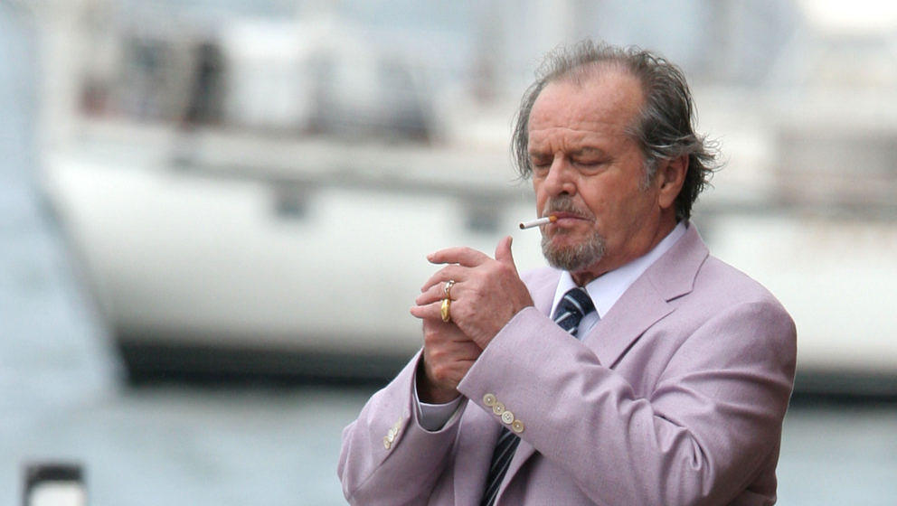 Jack Nicholson during 'The Departed' Movie Set - June 28, 2005 at Long Wharf in Boston, Massachusetts, United States. (Photo