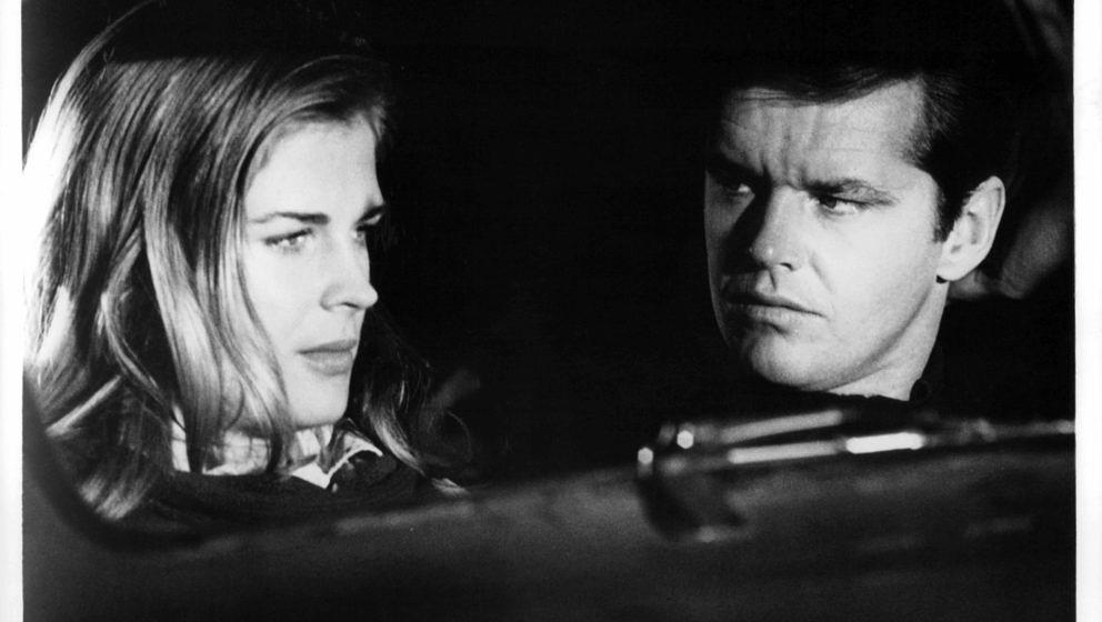 Candice Bergen and Jack Nicholson sitting in the car in a scene from the film 'Carnal Knowledge', 1971. (Photo by Avco Embass