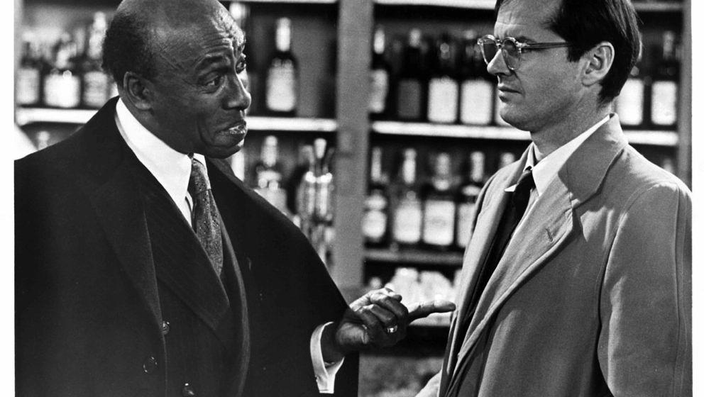 Jack Nicholson talks with Scatman Crothers (left) in a scene from the film 'The King Of Marvin Gardens', 1972. (Photo by Colu