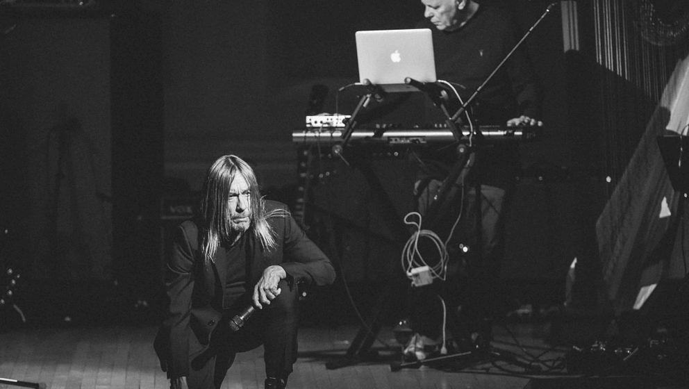 NEW YORK, NY - MARCH 16:  (Editors Note: Image has been converted to black & white)  Musicians Iggy Pop and Bernard Sumne