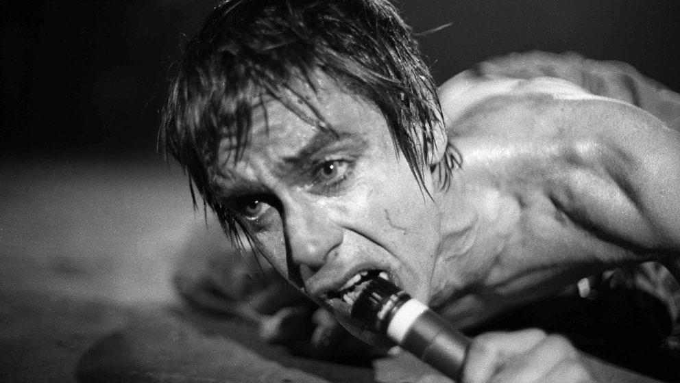 NEW YORK: Iggy Pop performs live on stage in New York in 1977 (Photo by Richard E. Aaron/Redferns)