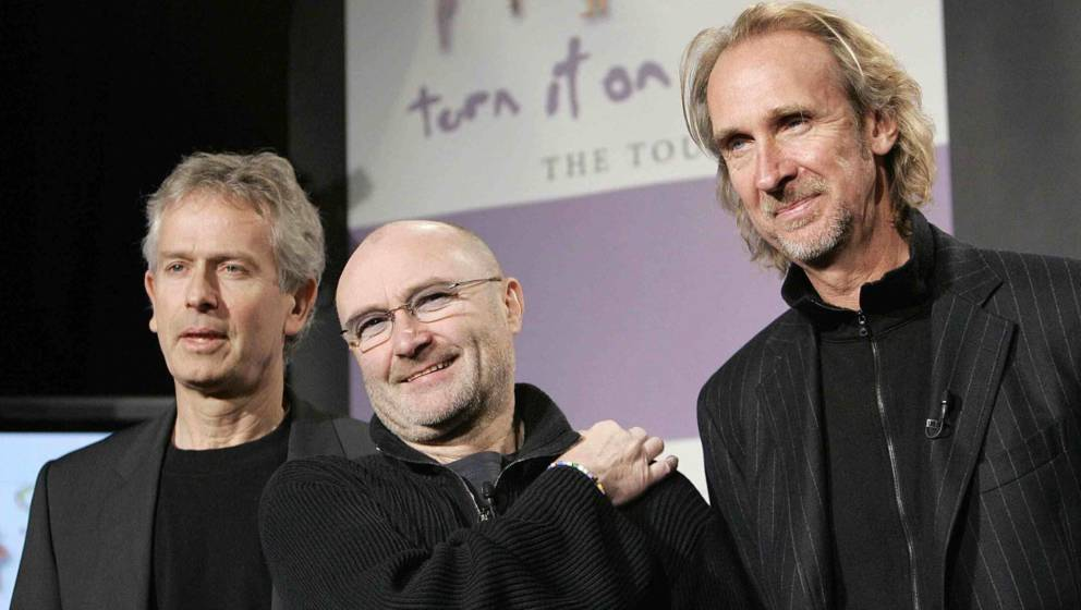 Tony Banks, Phil Collins und Mike Rutherford im Jahr 2007.