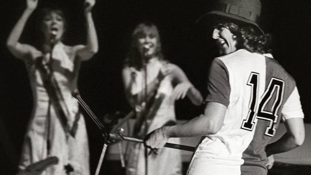 Anni-Frid Lyngstad von ABBA im Trikot von Feynoord Rotterdam
