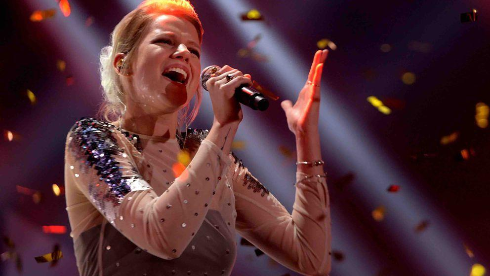 COLOGNE, GERMANY - FEBRUARY 09:  Isabella 'Levina' Lueen performs the winning title during the 'Eurovision Song Contest 2017