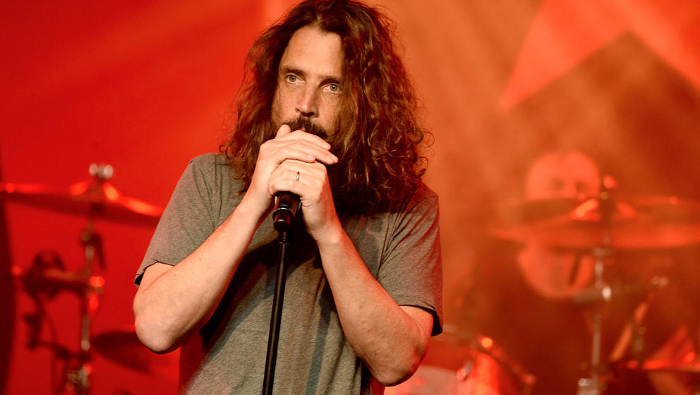 LOS ANGELES, CA - JANUARY 20:  Singer Chris Cornell performs at Prophets of Rage and Friends' Anti Inaugural Ball at the Tara